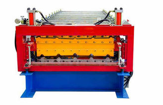 Cina 5.5KW Double Layer Tile Membentuk Mesin Genteng Roll Forming Machine pemasok