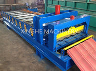 Automatic Glazed Tile Roll Forming Machine Dengan Kapasitas 2.5 Ton Decoiler