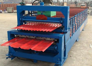 Cina 5.5KW High Speed ​​Roof Panel Roll Membentuk Mesin Dengan Presisi Tinggi Di Cutting pabrik