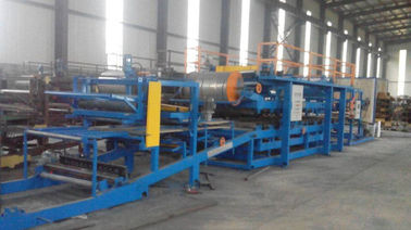 32KW Sandwich Panel Roll Forming Machine Dengan 0 - 3.8m / Min Working Speed