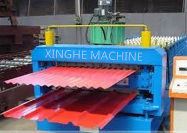 Cina Galvanized Metal Double Layer Roofing Sheet Roll Forming Machine / Roll Mantan Mesin pabrik
