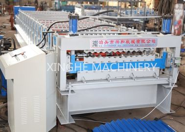 Cina Corrugated Wall Panel Roll Forming Machine, Aluzinc Double Layer Roofing Sheet Roll Forming Machine pabrik